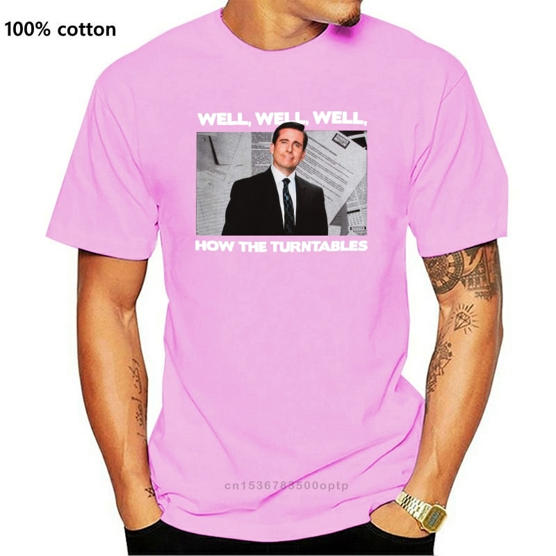 New The Office How The Turntables T-Shirt Original Tops Novelty 2021 Latest Men T Shirt Fashion T Shirt Casual O-Neck Top Tee