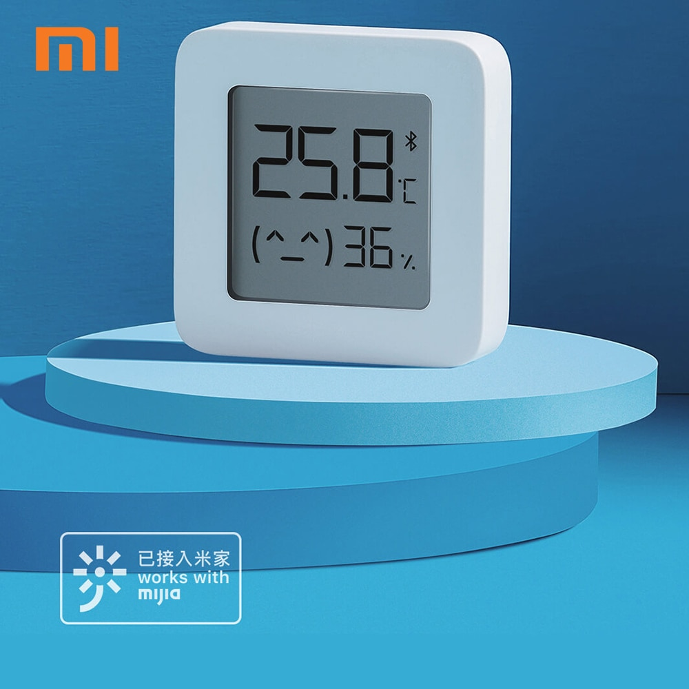 XIAOMI Mijia Bluetooth Thermometer 2 Xiaomi Home LCD Wireless Smart Electric Digital Hygrometer Thermometer Work with Mijia APP