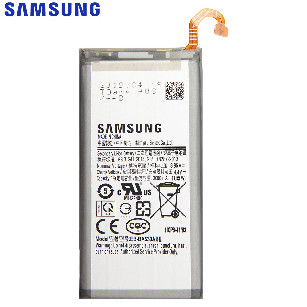 SAMSUNG Original Replacement Phone Battery EB-BA530ABE For Samsung Galaxy A8 2018 Version A530N SM-A530N 3000mAh Batteries enlarge