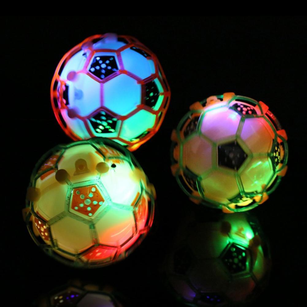 Luz LED brillante intermitente Bola de música que rebota fútbol bebé niños juguete de entrenamiento para mascotas juguete de juguete para masticar cachorro