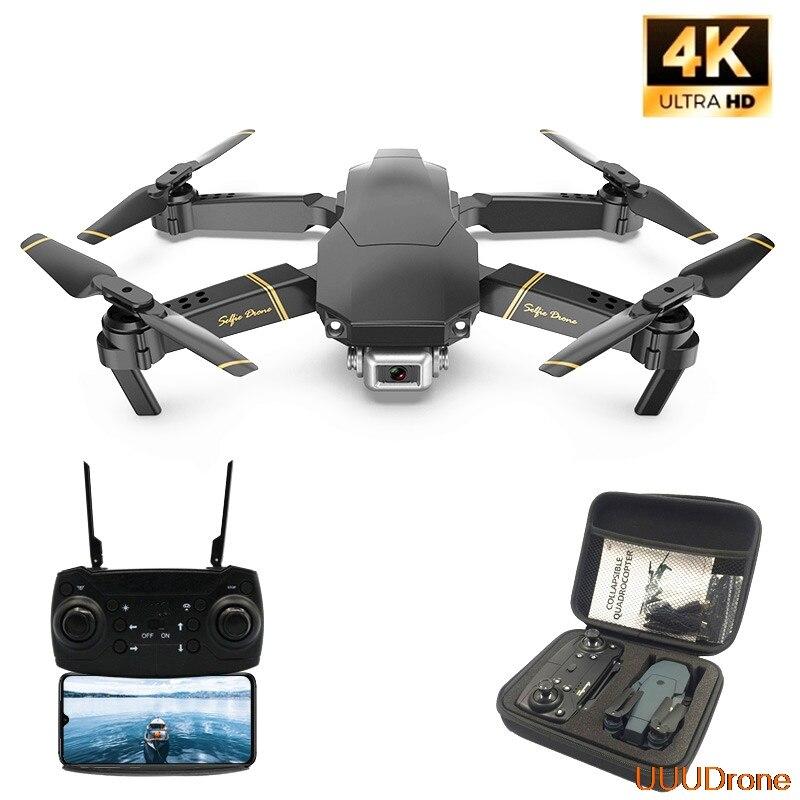 E60 RC Drone con HD 4K Cámara FPV WIFI función de retención de altitud Selife Dron plegable Quadcopter del E58 E520 SG106 M69 Drones