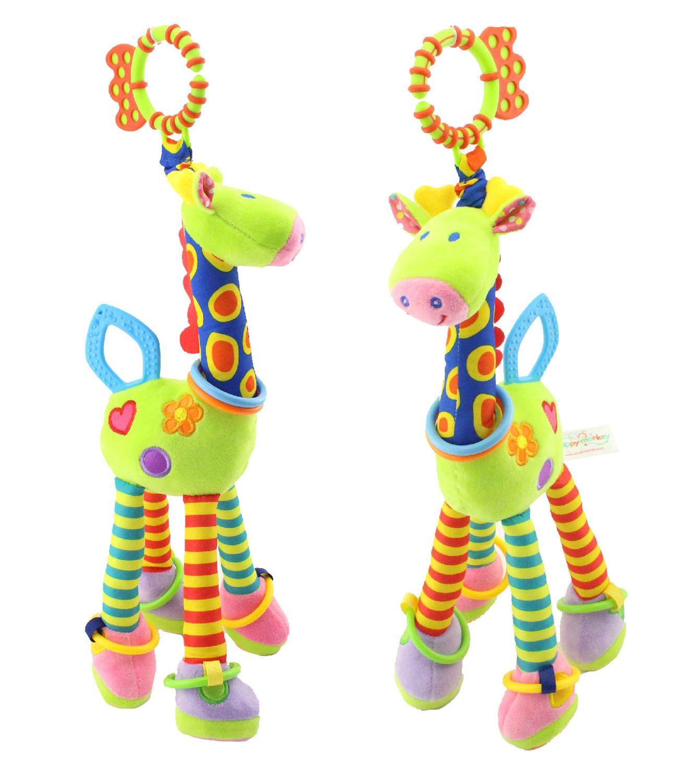 Детские погремушки, игрушки для малышей, Рождественская кроватка, игрушки для малышей, мягкая кровать, колокольчик, животные, музыкальные М...