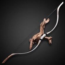 Arc de tir à larc traditionnel chinois une pièce en plein air arc classique en cuir véritable arc en bois 30-70 lbs 136cm membres darc en fiber de verre