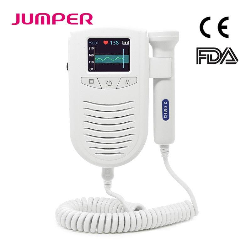 Detector Doppler Fetal portátil para el hogar mata moscas ultrasonido Monitor de sonido de latido sin radiación Sonda de 3,0 MHz