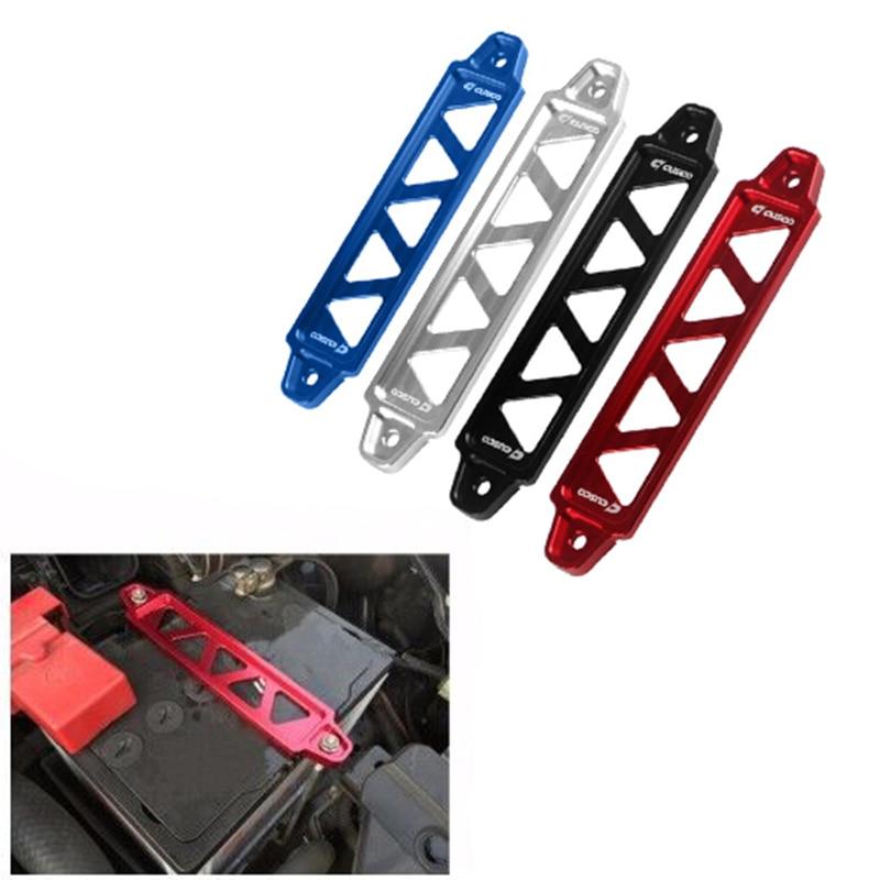 Batería de amarre para carreras de coches, soporte de bloqueo del soporte, abrazadera de amarre de batería Universal de aleación anodizada, accesorios de coche compatibles con