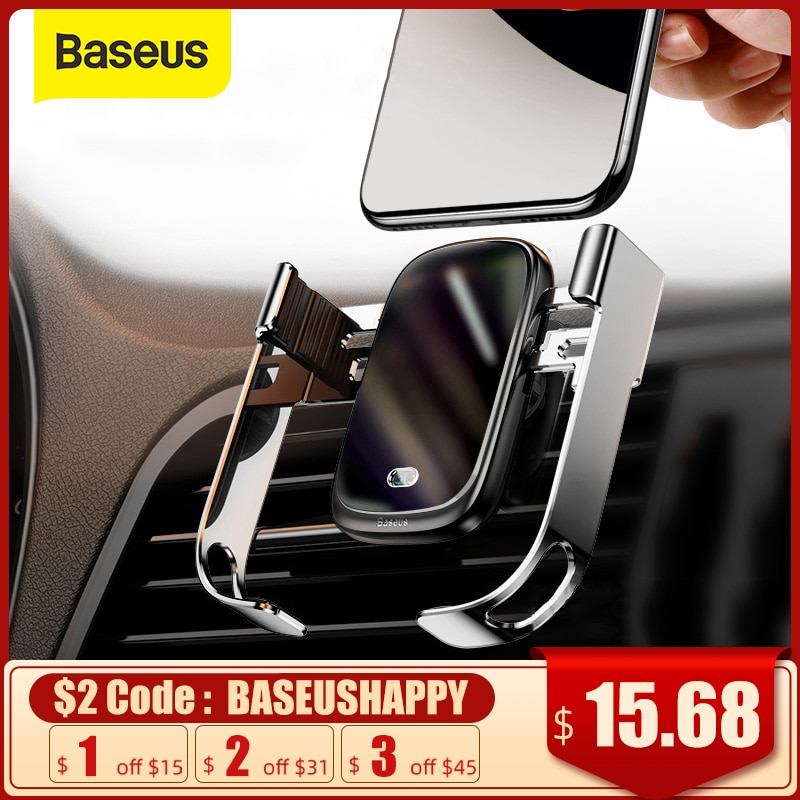 Baseus 15W Wireless Car Charger Qi Wireless Charger in Car Air Vent Mount Holder Infrared Sensor Wir