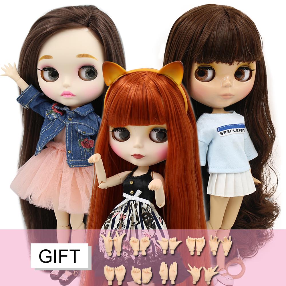 ICY DBS blyth doll 1/6 toy BJD custom doll joint body special offer on sale random eyes color nude doll 30cm