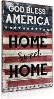 Putuo     signe de dieu beni amerique  maison douce en metal  en etain  12x8