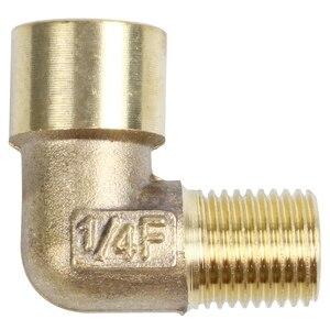 Соединитель для труб с углом 90 градусов 1/4 дюйма PT Male на 1/4 дюйма PT Female
