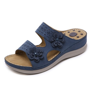 Women's Slippers Bohemia Style Summer Shoes Female Footwear Casual Flat Slippers Wedges Beach Shoes Fashion Zapatos De Mujer