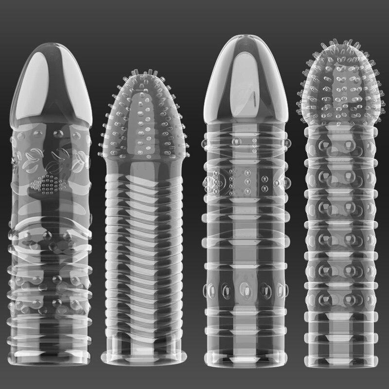 Condones extensores de pene para hombres adultos, cubre dedos, juguetes sexuales para...