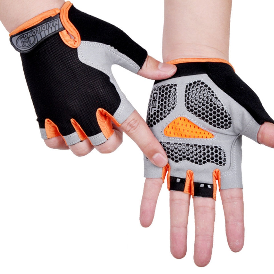 HOT Cycling Anti-slip Anti-sweat Men Women Half Finger Gloves Breathable Anti-shock Sports Gloves Bi