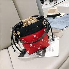 Bucket bag womens shoulder bag fashion lady handbag love heart female Messenger bag girl shopper bag new discount 2019 bags