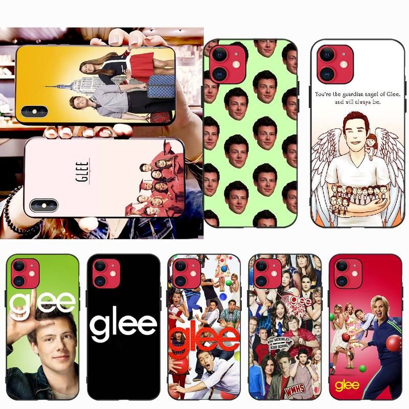 NBDRUICAI, Cory Monteith Glee, carcasa negra de TPU para iPhone 11 pro XS MAX 8 7 6S Plus X 5S SE XR, funda