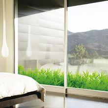 Films de verre autocollants muraux   Autocollants en vinyle à ceinture, facile à enlever facilement pour porte fenêtre, miroir mural, décoration de maison, herbe