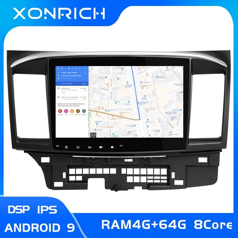 Android 9,0 DVD del coche para MITSUBISHI LANCER 10,1 pulgadas 2 DIN 3G/4G GPS radio reproductor de vídeo 2007-2018 9 x Mutlimedia StereoIPS DSP 4G