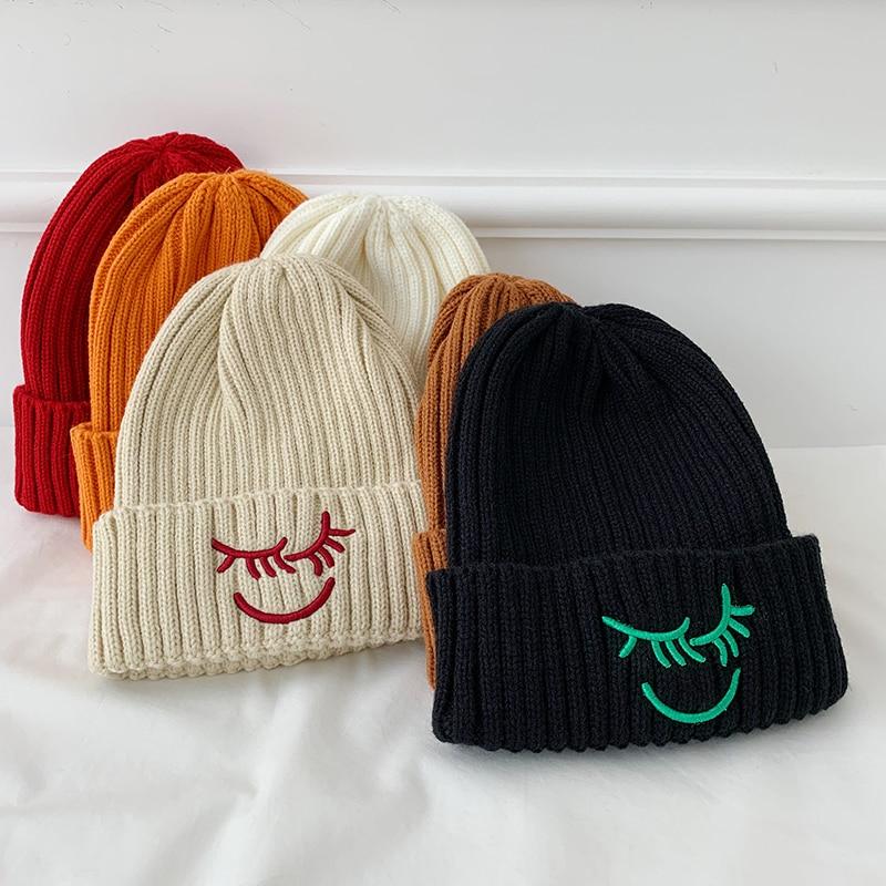 Hat Female Autumn and Winter Korean Fashion Net Red Style Woolen Cap Beanie Hat Female Winter Knitte