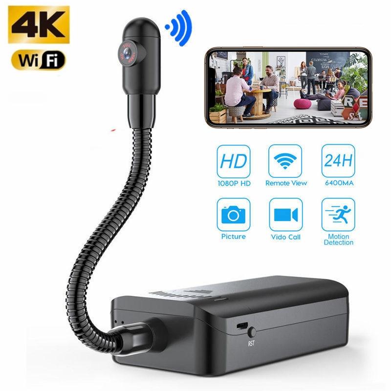 لاسلكي 4K HFD لتقوم بها بنفسك كاميرا مراقبة عن بعد سرية كاميرا دقيقة واي فاي الأمن كام للرؤية الليلية كشف الحركة كاميرا فيديو DV espia