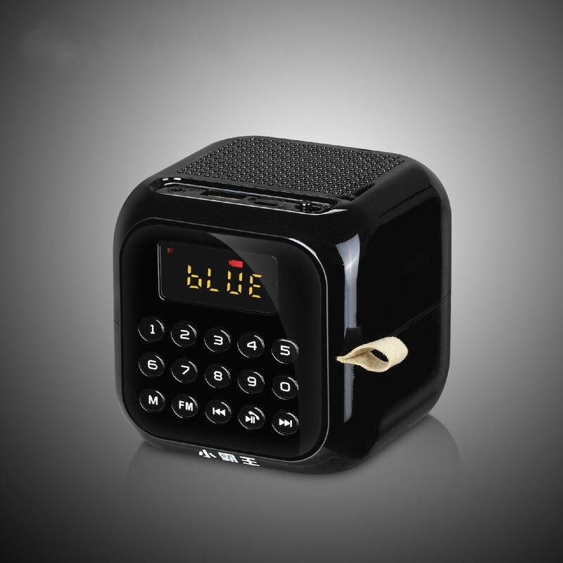 Altavoz Bluetooth inalámbrico portátil al aire libre Mini tarjeta HD Surround Subwoofer Digital selección FM Radio compatible con MP3... WMA y WAV