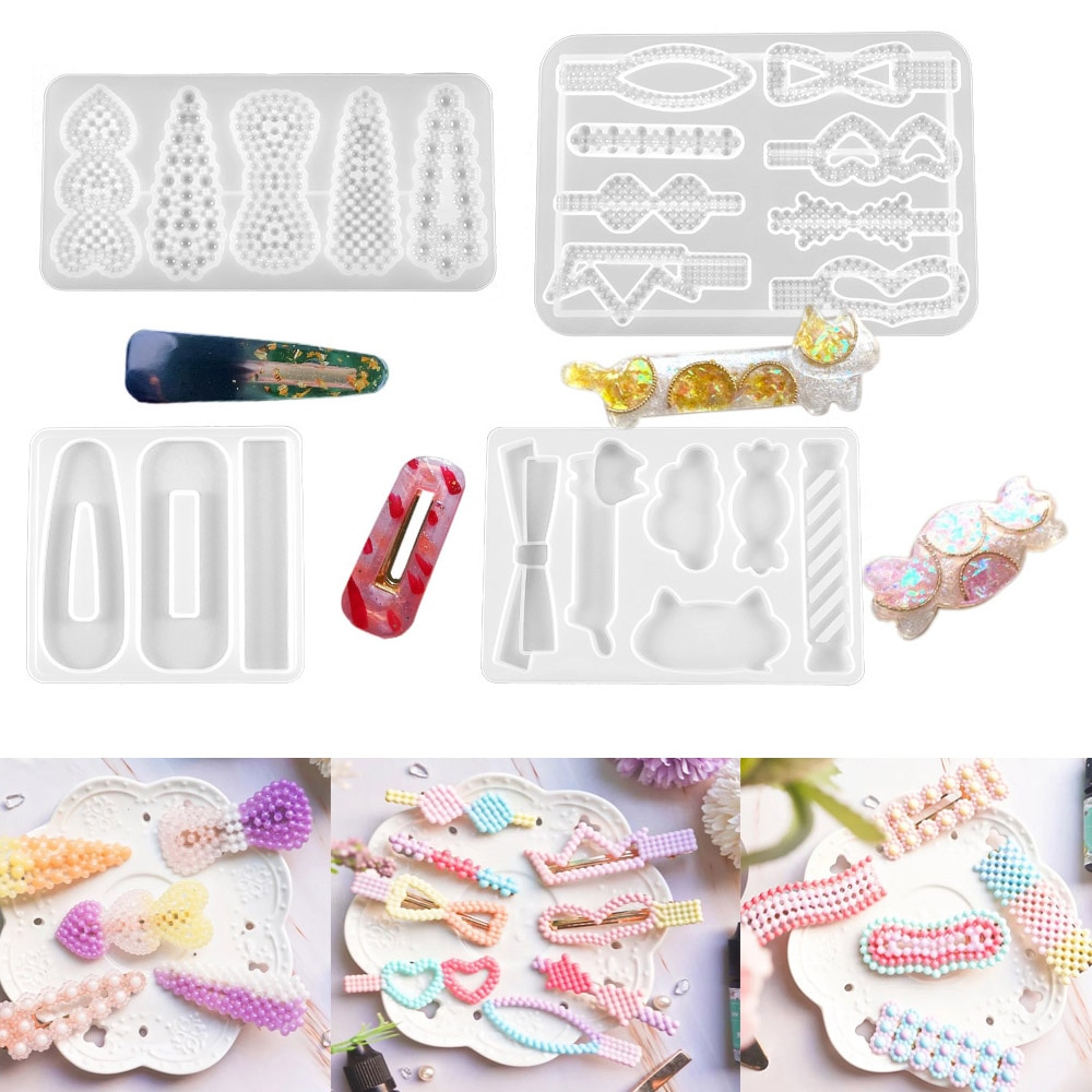 10 Style Hairpin Silicone Molds UV Epoxy Resin Mold Hair Clip Casting Moulds For DIY Jewelry Making Findings Accessories demixing pendant resin mold silicone mold casting molds epoxy uv jewelry making moulds jewelry making jewelry tools