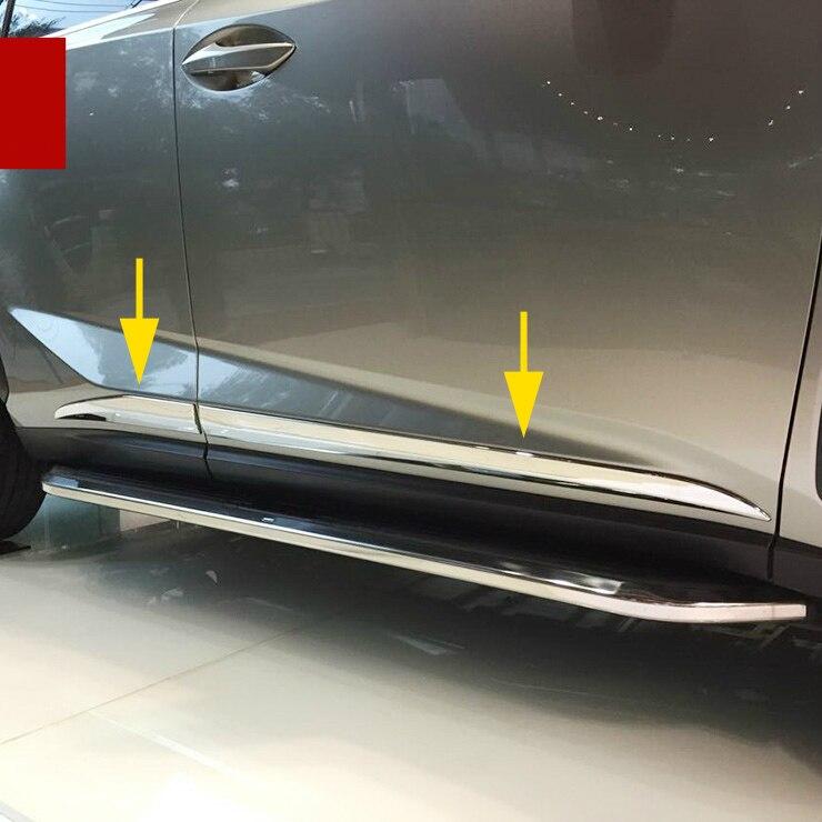 Cubierta de moldura cromada para carrocería, ajuste de rayas para Lexus NX200t NX300h NX300 2015-2018 2019 2020, accesorios