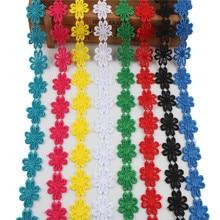 Yy-teso-ruban dentelle de bonne qualité 2 Yards/lot   Tissu dentelle française de 2.5cm de large, garniture en dentelle de décoration, broderie bricolage pour la couture