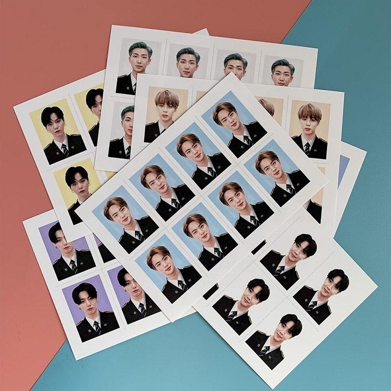 KPOP Bangtan BoysUniform фото ID фото один дюйм фото паспорт SUGA JIMIN