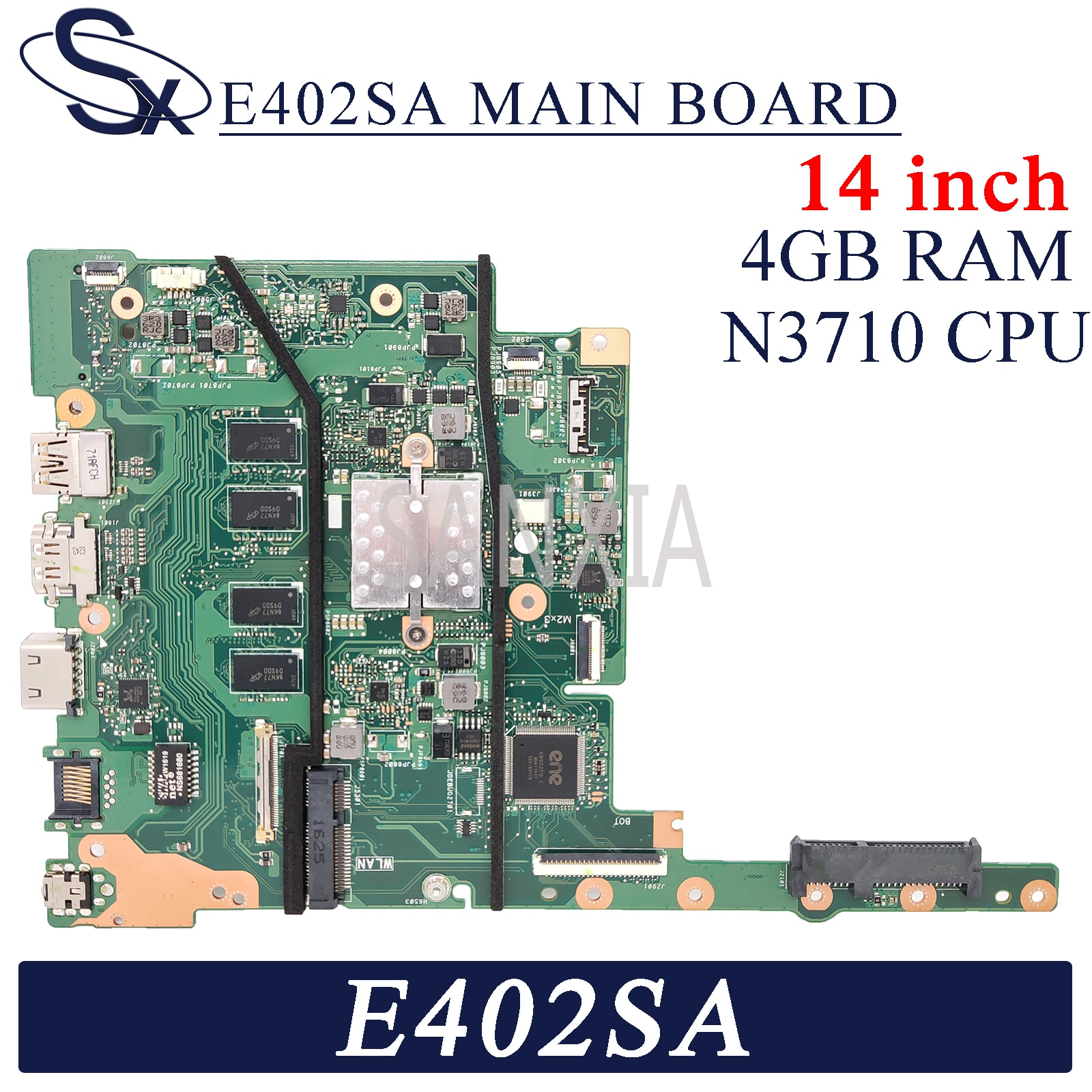 KEFU E402SA Laptop motherboard for ASUS E402SA E402S (14 inch) original mianboard 4GB-RAM N3060 CPU