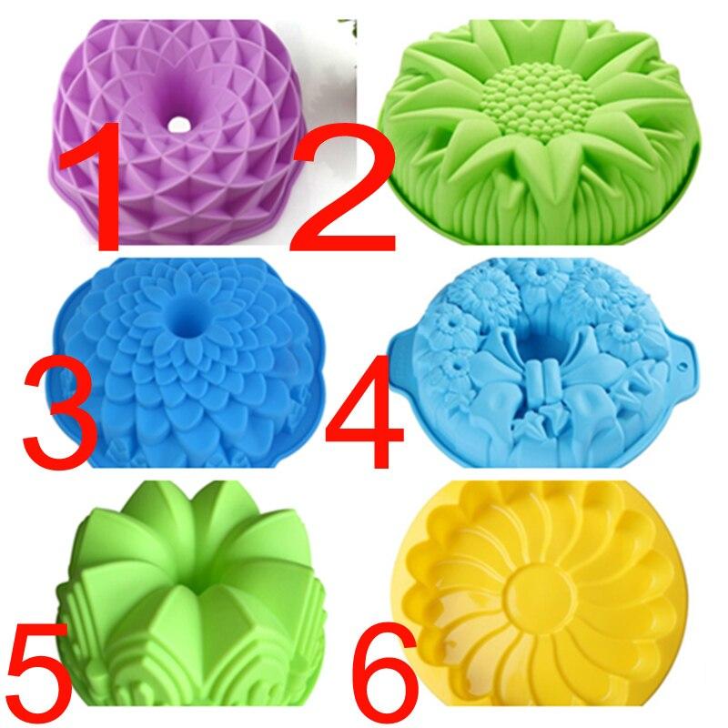 DIY Forma de Corona de flores, utensilios para hornear, utensilios para hornear, molde 3D para repostería