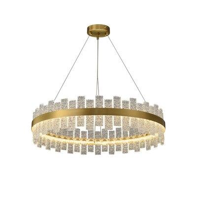 lustre de luxo com lampada de cobre novo lustre para sala de estar lampada de cristal
