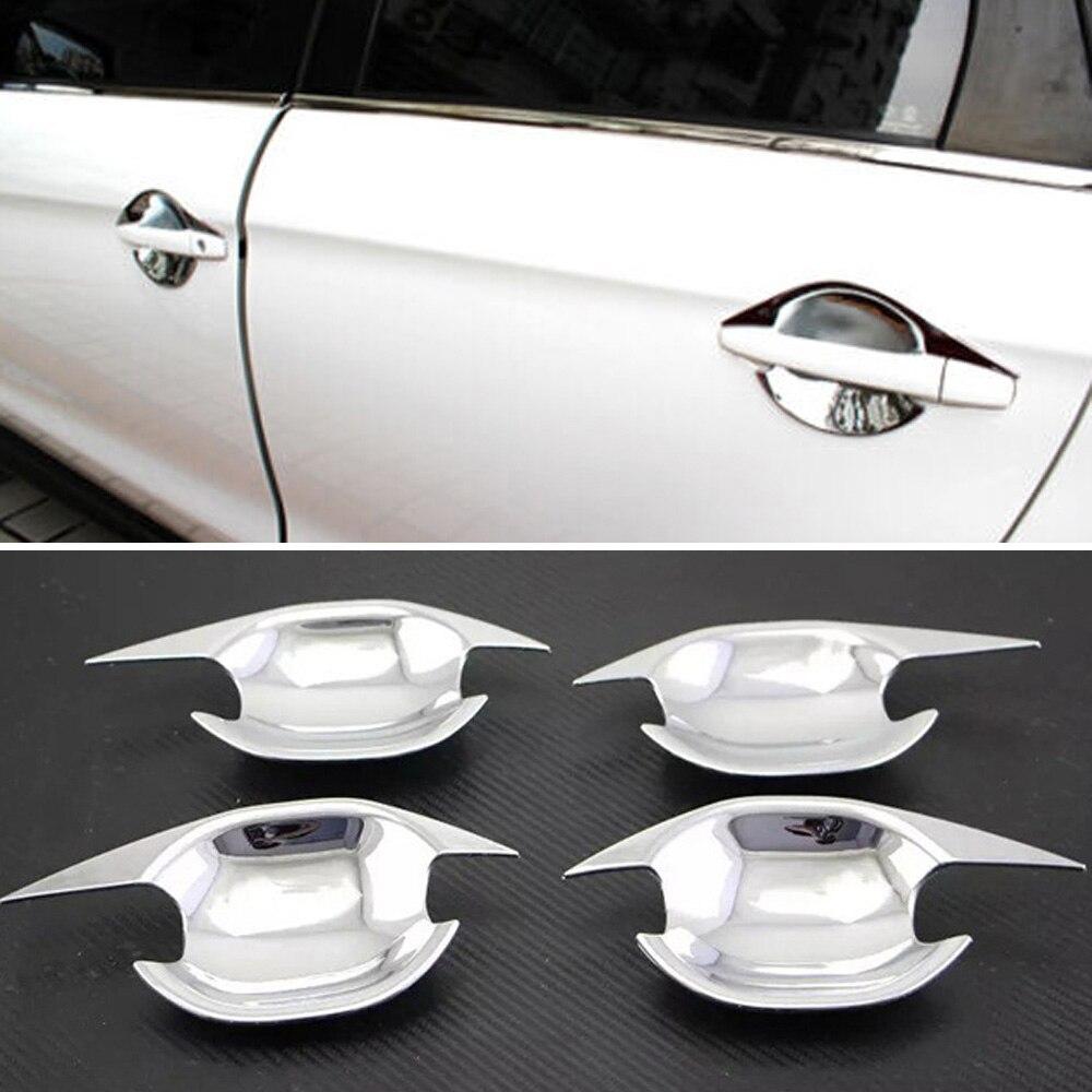 ABS para manija de puerta lateral de coche cubierta de cuenco para Mitsubishi ASX RVR Outlander Sport 2010-2018 manijas de puerta Exterior autopartes