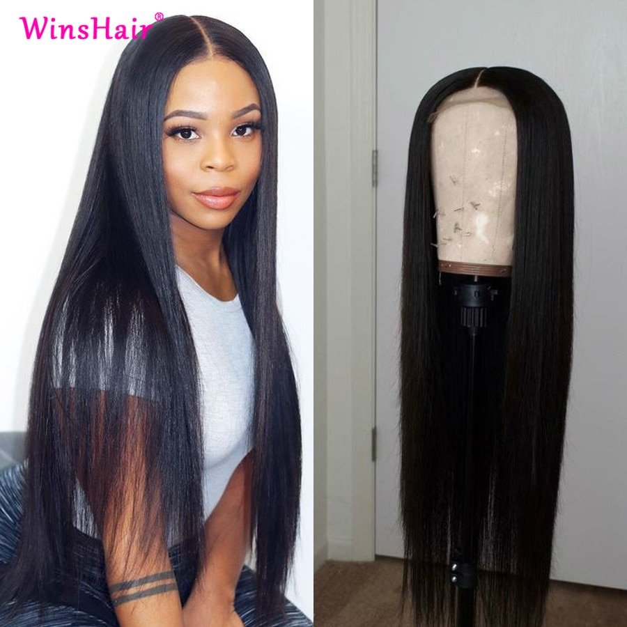 Winshair Straight Lace Front Wig 30 inch Lace Front Wig Brazilian Lace Front Human Hair Wigs Silky L