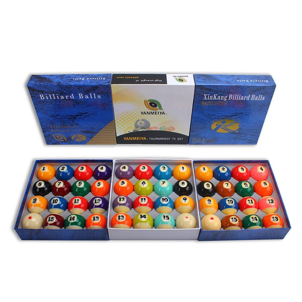 "Billiard Pool Ball Tournament Quality Full Size Number Ball Set 16 Balls 2-1/4"" 57mm"