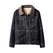 KIOVNO hommes hiver chaud Denim vestes manteaux col de fourrure polaire doublé thermique jean vestes Outwear pour homme taille M-2XL coupe-vent