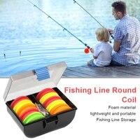 10pcs fishing foam spools fishing line round coil eva foam pins fishing line winder organizers rig with storage box