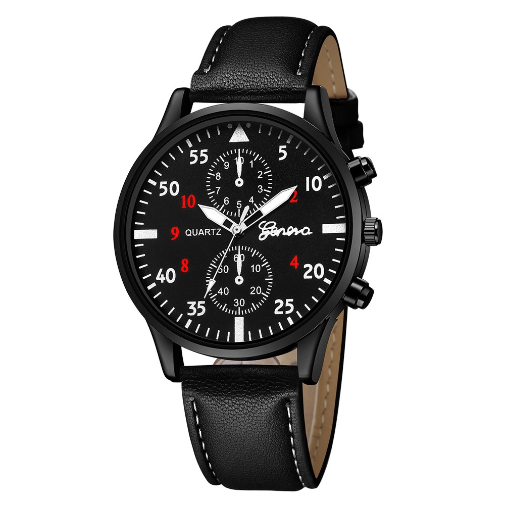 Распродажа, минималистичные мужские модные ретро-часы с кожаным ремешком, военные Аналоговые кварцевые наручные часы из сплава, мужские ча...