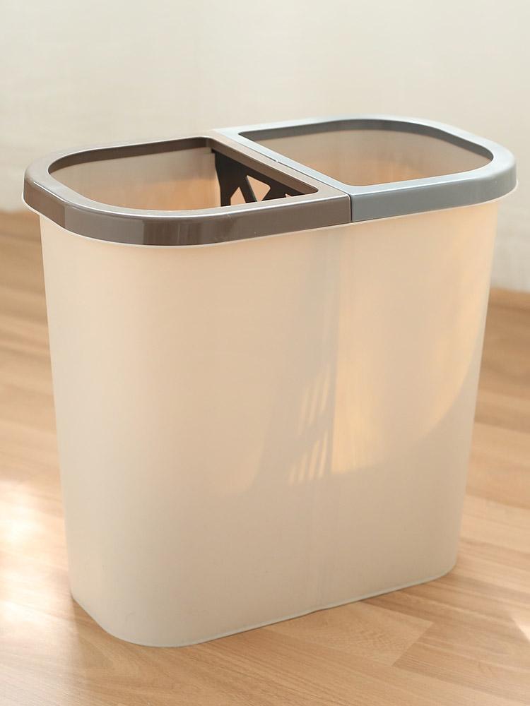 Nordic Bedroom Trash Bin Recycling Bins Luxury Plastic Kitchen Trash Can Garbage Sorting Rangement Cuisine Bins BK50LJ enlarge