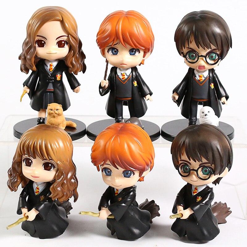 6 unids/lote ojos grandes QPosket Weasley Ron Hermione Granger Snape figura de acción juguete muñeca de regalo de cumpleaños