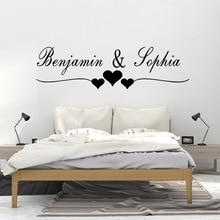 Autocollant Mural personnalisé des amoureux   Étiquette pour décor de chambre à coucher, Stickers muraux en vinyle pour décoration de salon, Stickers de décor muraux