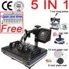 Double affichage 12x15 pouces 6 en 1 Combo T-shirt presse à chaud Machine imprimante par Sublimation pour plaques/capuchon/tasse/téléphone/stylo/roche/MDF