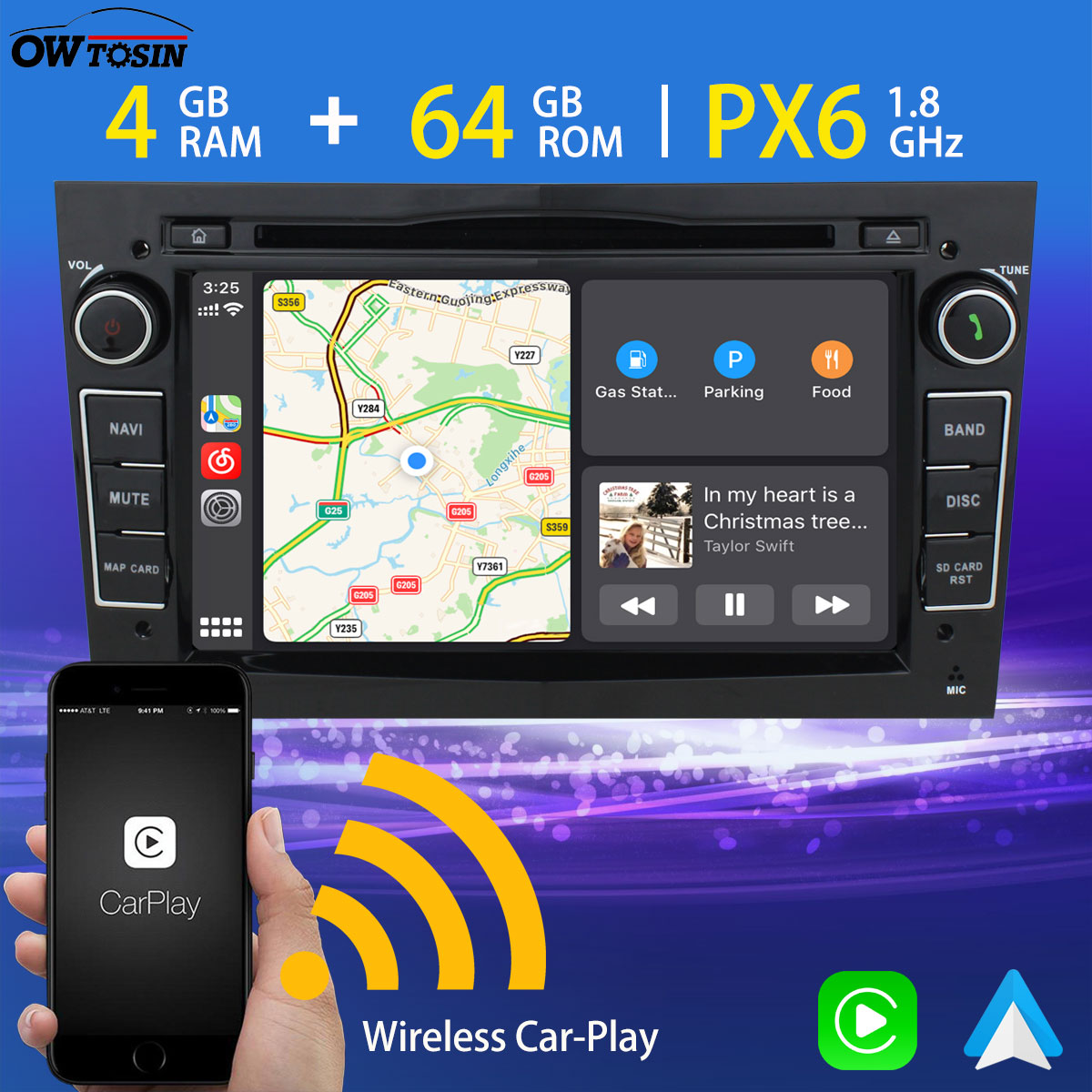 Reproductor Multimedia para coche PX6, 4G + 64G, con Android, GPS, Navi, Radio para Opel Vivaro, Meriva, Vectra, C, Zafira, B, Insignia, Combo Signum Stereo