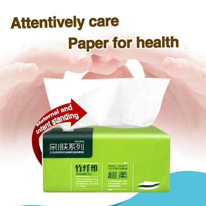 Alta qualidade 6 pacotes forte macio 4-ply tecido de banho de papel higiênico de bambu toalha de papel amigável para casa nova