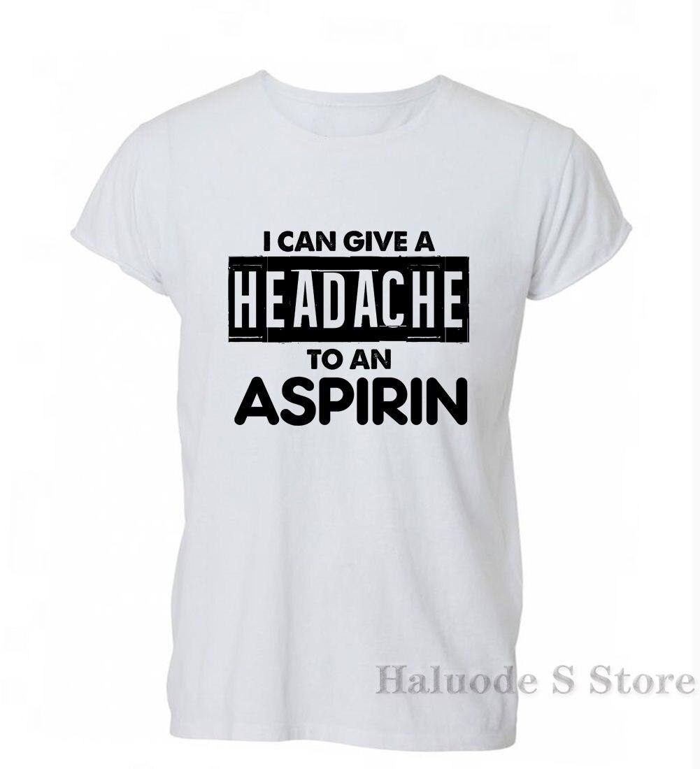 100% algodón gran oferta 100% algodón dar un dolor de cabeza A la aspirina divertido Tumblr Hipster camiseta hombres mujeres regalo