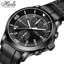Haofa Automatic Chronograph Watches Mens 2021 Pilot Mechanical Sapphire Self Winding Chronograph Wri