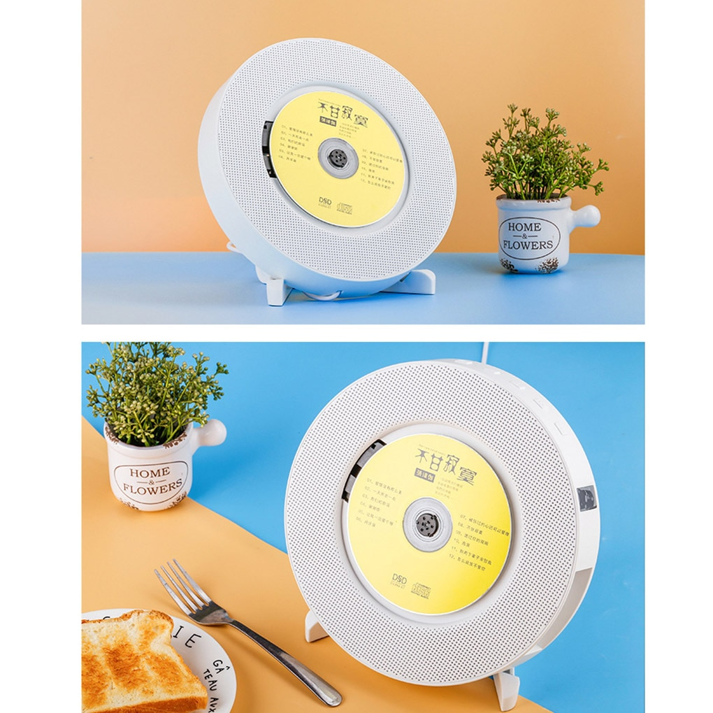 Wall-Mount/Desk Stand CD Player Bluetooth Home Audio Boombox With Remote Control Portable Radio Built-in HiFi Speaker MP3 Player enlarge