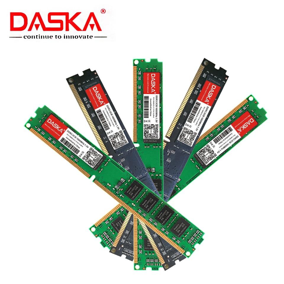 DASKA New DDR3 8GB 4GB 2GB 1600/1333 MHz PC3-12800/10600 Desktop Memory Motherboard Ram DIMM