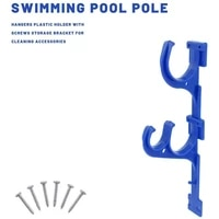 1pcs high quality swimming pool pole hangers plastic support hooks for swimming pool sticks skimmer brush nets holder