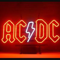Custom AC DC Back In Black Glass Neon Light Sign Beer Bar