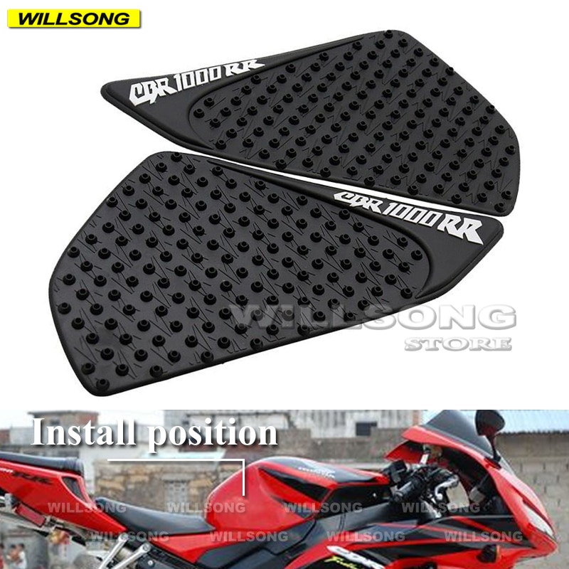 Silica Gel Anti Slip Sticker Tank Pad Side Knee Grip Protector For HONDA CBR1000RR 2004-2007 Year Motorcycle Accessories