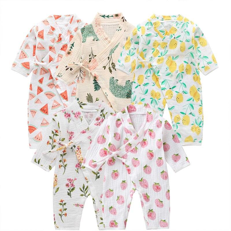 COSPOT, vestido de hilo para recién nacido, traje Kimono infantil de dibujos animados, 100%, monos de muselina de algodón, ropa para bebé (niño o niña), ropa de dormir 2020, nuevo 35